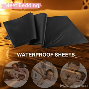 Vinyl Bed Sheets Bondage Bondage Oil-Proof Waterproof Black red 210CM of sheet