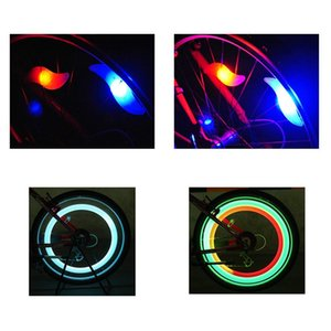 Bike Bicycle LED Wheels Spokes Lamp wheel Lights Motorcycle Electric car Silicone 4 colors flash alarm light cycle accessories JXW400