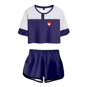 Japan Anime Naruto 3D Print Cosplay Two Piece Set New College Women's Sexy Navel T-Shirt + Shorts 2 Pieces Outfits Sweatsuit