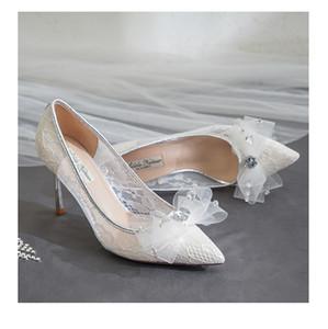 2019 novo laço 8cm 6 cm moda noiva casamento mostra luxo designer saltos sapatos de casamento branco saltos senhoras designer sapatos