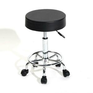 Salon hydraulique réglable Tabouret pivotant Chaise roulant SPA Massage Noir