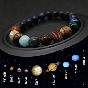 Eight Planets Planet Natural Stone Universe Men And Women Bracelet Yoga Wheel Galaxy Sun Lover System Bracelet Anniversary Gift