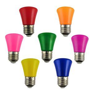 3W LED Color Light Bulb E27 Screw Color Bulb 5W Home Use Morning Glory Bulbs 1W Indoor Decoration Energy Saving Bulbs 0.5W