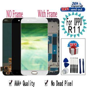 """5.5"""" LCD R11 Para OPPO R11 LCD Touch Screen substituição digitador Assembléia com frame para OPPO R11"""