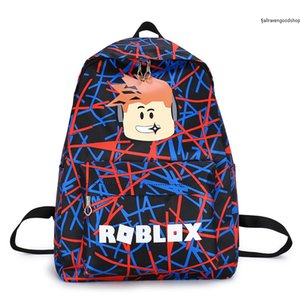 Hot Brandcamouflage Roblox Backpack Bag Game Peripheral Student Canvas Bag