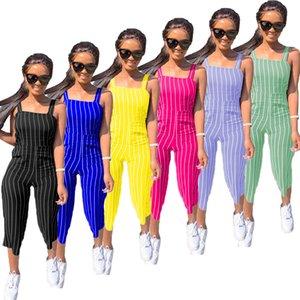 Desinger Femmes Sexy Jumpsuit Romper Bodysuit moulante profond col V Pantalon Débardeur sans manches Sporting Costume Feminino 123 Combinaions