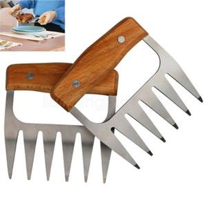 Madera de acero inoxidable garra de oso Barbacoa Carne de cerdo Garras cocina cómoda Shredder Trituración barbacoa Forks herramienta de múltiples funciones FFA3115-7