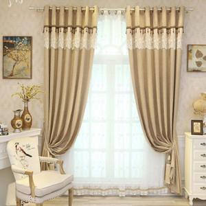tende moderno e minimalista per Soggiorno Camera da letto Upscale ciniglia Ombra Solido Colore Curtain sinistro e destro Biparting Aperto