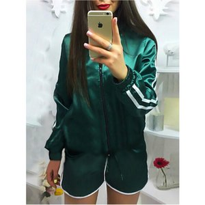 hirigin Women Fitness Sportwear Casual Tracksuit Casual Suit Jacket Coat Shorts Hot Pants