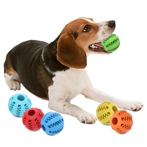 Giocattolo per cani Interactive Rubber Balls Pet Dog Cat Puppy ElasticityTeeth Ball Dog Chew Toys Ball Cleaning Balls 5cm 7cm
