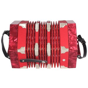Concertina Accordion 20-Button 40-Reed Anglo Style With Carrying Bag And Adjustable Hand Strap