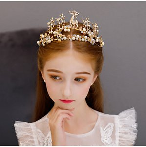Beauty Gold Silver Girls 'Head Head Pieces Flower Girls' Head Pieces Girls 'Headbands Wedding' Tiara / Crown Kids 'Accesorios H321005