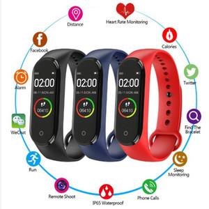 20pcs Hot M4 Smart Bracelet Fitness Tracker PK Mi band 4 Fitbit Style Sport Smart Watch 0.96 inch IP67 Waterproof Heart Rate Blood Pressure