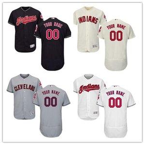 Gewohnheit jeder Name Zahl Jugend freies Schiff Baseball Cleveland Cleveland Indians indische Männer Frauen rot weiß hochwertiges Trikot