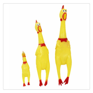 Bruit Maker crier en caoutchouc de poulet jaune Shrilling morsure résistant Squeeze Jouet un cadeau parfait pour L'anniversaire et Festivals