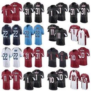 Uomini Arizona10 DeAndre Hopkins Cardinale1 Kyler Murray 11 Larry Fitzgerald 31 David Johnson jersey Titans22 Derrick Henry