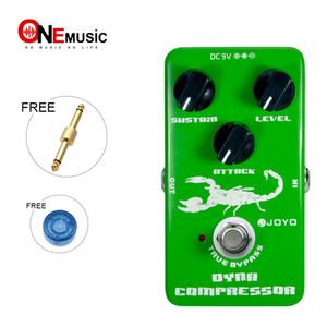JOYO JF-10 Dinamik Kompresör Gitar AMP Etkisi Pedalı Gerçek Bypass Yeşil metal pedalı