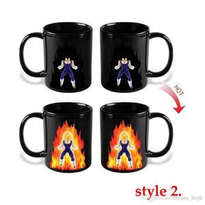 Dragon Ball Z Tazza Son Goku tazza di un pezzo di colore calda Modifica Coppe calore reattiva Tazze Super Saiyan tazze di latte tazze di caffè Taza Goku
