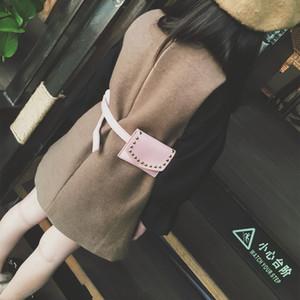 Enfants sacs à dos mode nouveaux garçons filles buste sacs de taille enfants rivets PU lether sac à bandoulière Messenger sacs de ceinture enfants 6 couleurs A1771