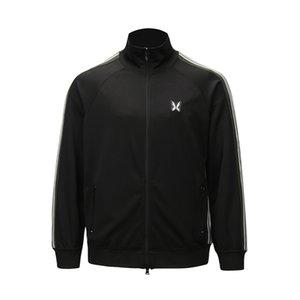 Estilo Europeu Andys borboleta fita bordado Jacket Desporto Lazer manga comprida Brasão Casal Listrado Moda HFXHJK084 Jacket