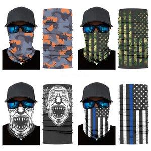 Women Men Novelty Style Printed Multi Functional Seamless Quick Dry Sunshade Sweatband Hairband Head Skull Scarf Magic Skull Scarf Bandan#360