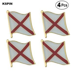 U. S. A Alabama Flag Pin Lapel Pin Badge Broch Icons 4PC