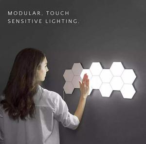 Lampe murale bricolage Touch Switch Lampe Quantum LED Lampes hexagonales Modular Modular Creative Decoration Lampes LED lumières