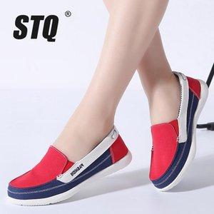 donne STQ 2019 invernali di tela scarpe da ginnastica per donna slittamento sui fannulloni scarpe scarpe da tennis delle donne degli appartamenti signore slittamento piatto sul scarpe da ginnastica