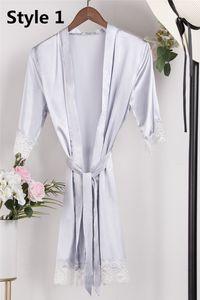 Lace Mixed stile reso personale raso di seta Brides sonno Robes stampa glitter corto accappatoio damigella d'onore kimono lungo Pigiama Notte Lady Robe