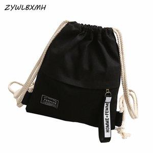Mochilas Grande Capacidade ZYWLBXMH Viagem Backpack cor sólida com cordão Bolsa de Mulheres Pouch Bolsa Worek plecak sznurek