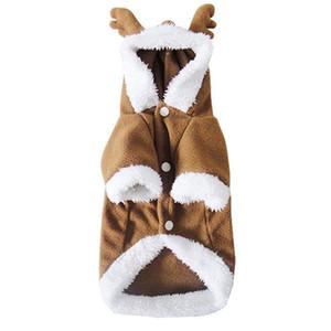 ازياء كلب عيد الميلاد دعوى الكلب إلك سانتا زي الصوف القطبية صالح للحصول على جرو الكلب تيدي
