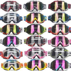 Occhiali di marca Dirt Bike ATV Cross Riding Ski Fox Occhiali da motocross Motore per moto UV Sci Snowboard Occhiali Lenti trasparenti