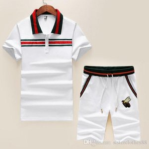 New fashion designer men's sports suit suit Medusa designer track suit men's short set jogging set Bee Fashion Summer mens sportsw