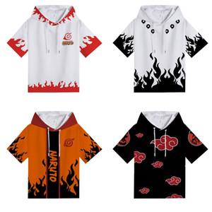 Anime Naruto Uchiha Itachi com capuz T-shirt Adolescente Meninos 3D Imprimir Casual dos homens de manga curta de Hip-hop Verão Tees Cosplay Roupa