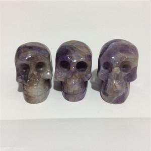 2inches en gros de haute qualité naturel Amethyst crâne Forme des pierres en cristal sculpté à la main Palm pour le présent ou Collection
