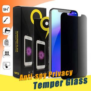 Anti-Spy Protecteur d'écran pour iPhone XS MAX iPhone confidentialité pour Samsung Verre Trempé S6 LG avec groupe