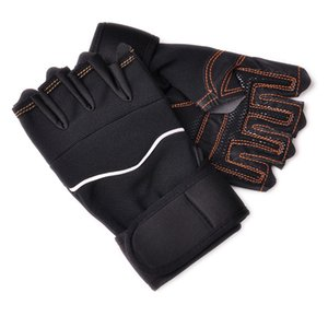 1 Pair Half-Finger Sport Gloves Hiking Glove One Size Exercise Training Wrist Fitness Weight Lifting Gloves Anti-Slip Glove