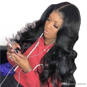 Body Wave 13x6 Lace Front Human Hair Wigs For Women 250 %Density Lace Frontal Wig With Baby Hair Black Dolago Remy Full Ends