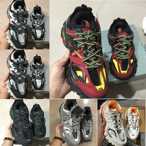 2019 nuova moda Triple S Track Trainers scarpe da corsa sportive da uomo firmate Clunky sneakers nero arancione donna che cammina lusso Parigi sporco