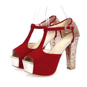 New Gladiator Sandals Women Tenis Feminino Big Size 32- 43 peep toe High Heels wedding party Shoes woman Pumps