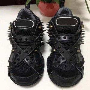 Spikes Flashtrek Sneaker mit Nieten Abnehmbare Spikes Herren Cowboy-Schuhe der beiläufigen Schuhe der Frauen Turnschuhe II9