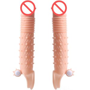 Секс игрушки для мужчин Penis Extender Cock Sleeve С Вибратор Мошонка кольцо для последнего дольше времени больше удовольствия Для женщин