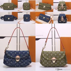 kutu ile 3A kalite Denim kadın çantaları kadın sırt çantası deri omuz çantaları Kamera çantası bayan cüzdan bel paketi Akşam çantası debriyaj yastığı 1