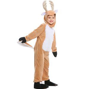 SFIT للجنسين منامة الكبار للأطفال الأطفال Onsize بيما تأثيري قطعة واحدة ملابس هالوين زي الأيل بذلة