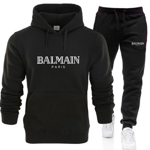 Blamain дизайнеры набор Sweatsuit Tracksuit Men толстовки брюки Мужская одежда Толстовка Пуловер женщин вскользь теннис Спортивные костюм Пот костюм