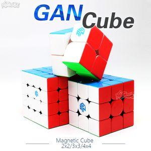 Cube velocidade Gan Magnetic Magic Cube 2x2x2 3x3x3 4x4x4 GAN 356 Air SM 354m 460m 249 v2 M 356x Stikerelss Magnetc Y200428