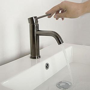 Badarmaturen Wasserhahn Waschbecken Wasserhahn Waschbecken Messinghahn Gebürstet Gold Grau Matt Schwarz Gold Mischbatterien