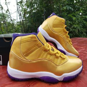2020 Yeni 11 XI WMNS 11'ler altın mor Erkek Basketbol Ayakkabı Yüksek Kalite Jumpman 24 Spor Eğitmenler Spor ayakkabılar des Chaussures Zapatos