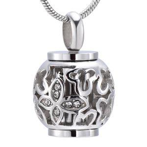 Argent, Or, Rose et Noir Lanterne Forme Cremation Collier En Acier Inoxydable Souvenir Bijoux Cendres Titulaire pour Femmes Accessoires