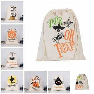 Halloween coulisse Borse regali di caramelle Sack Borse Large Canvas Zucca partito di travestimento di Borse cranio Devil Spider Stampa sacchetti di immagazzinaggio C6215